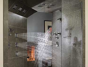 shower in a bathroom