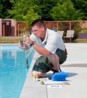 testing a pool