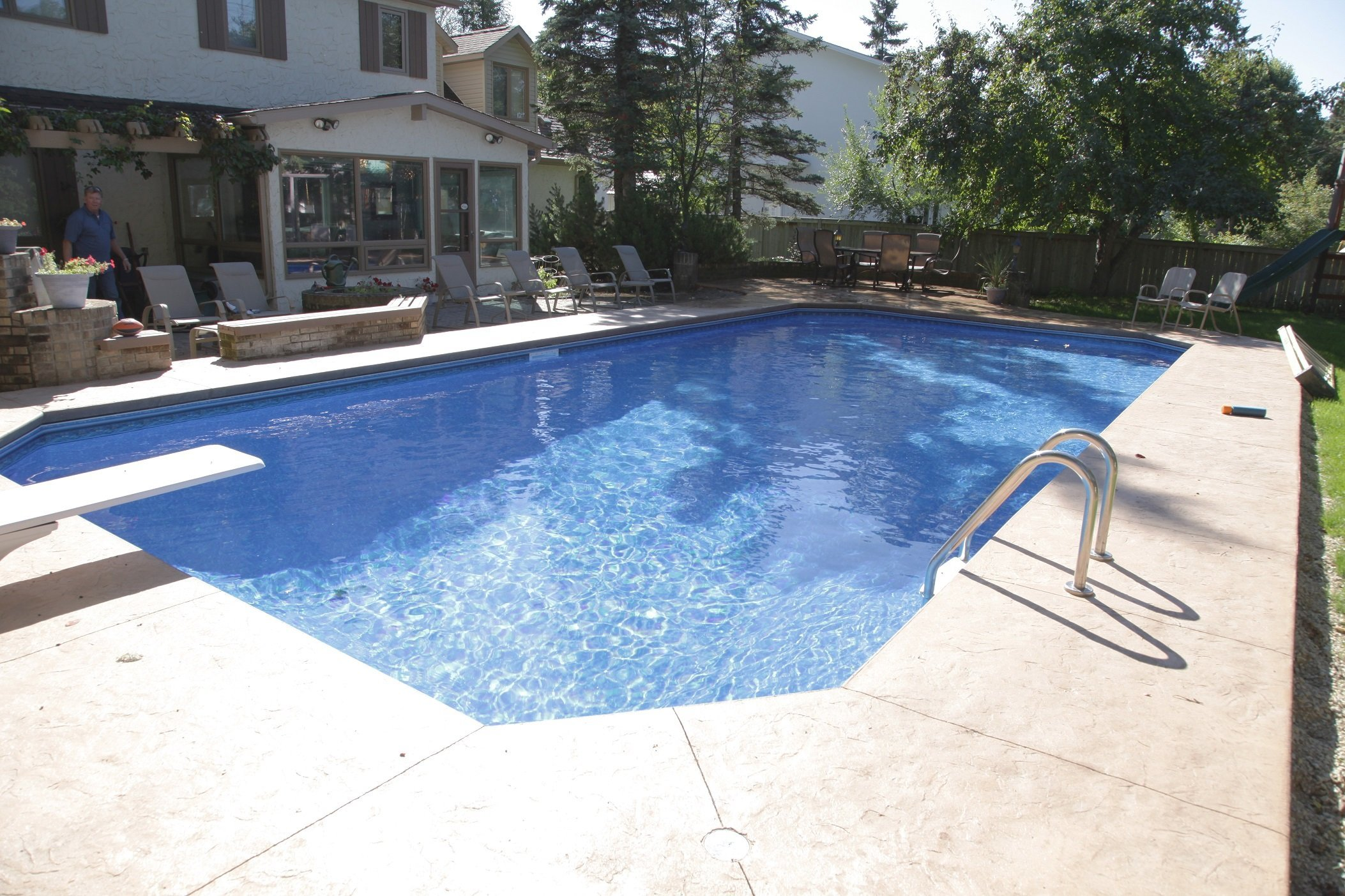 Average pool liner replacement cost aqua tech for Pool liners