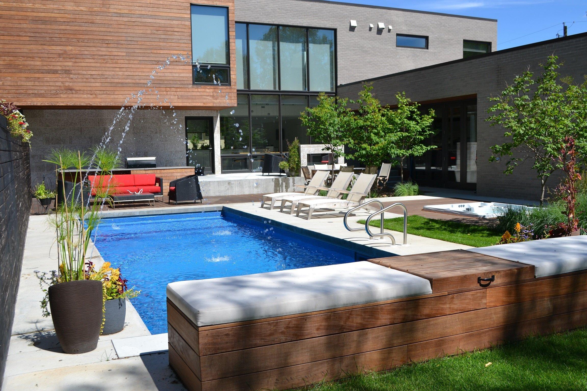 Pools with waterfalls hidden features aqua tech for Pool design regrets