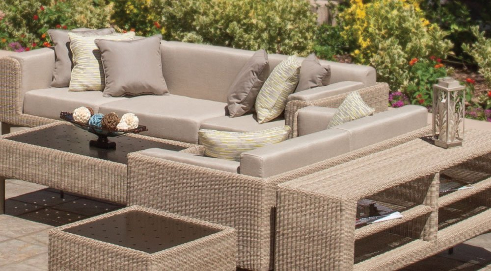 Winston Southern Cay Sling Aluminum Armless Chaise Lounge: Patio Furniture - Couch And Chairs Winnipeg